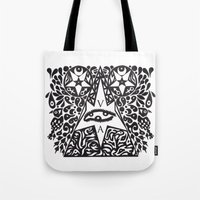occult Tote Bags featuring Occult  by Maelstrm