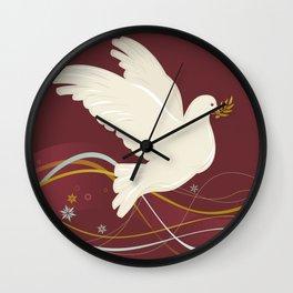 Christmas Dove Wall Clock