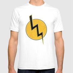 Lightning bolt SMALL Mens Fitted Tee White