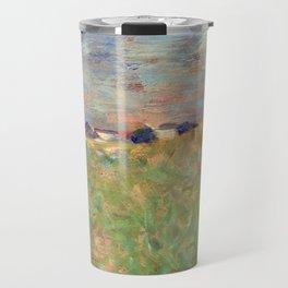 Georges Seurat A Summer Landscape Travel Mug