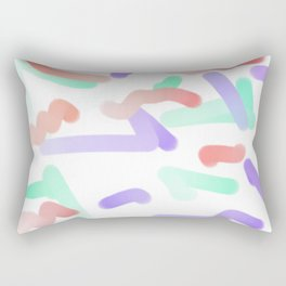 corolful art, a lot of colorfuls, simbolism, painting for young Rectangular Pillow