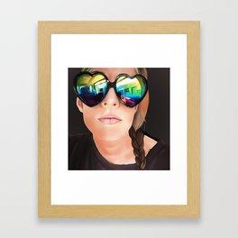 Isa in glasses Framed Art Print