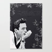 johnny cash Canvas Prints featuring Johnny Cash by Iany Trisuzzi