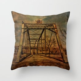 1897 Bridge over Neversink River Throw Pillow