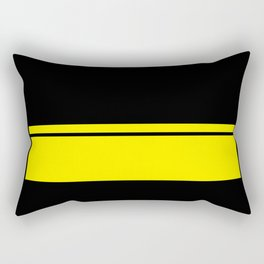 Yellow Racing Stripe Berlin Style Rectangular Pillow