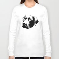 lab Long Sleeve T-shirts featuring Chocolate Lab by MIX INX