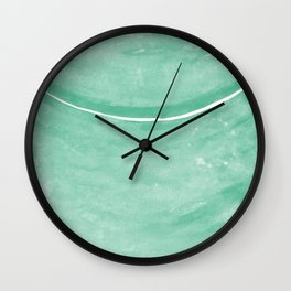 Cohesion Watercolor Print in Mint Wall Clock