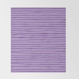 Amethyst Pinstripes Throw Blanket