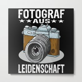 Passionate Photographer Metal Print