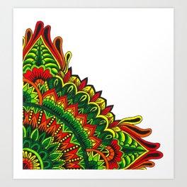 Tribal Corner Mandala Art Print