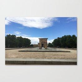 Madrid, Spain - Temple of Debod Canvas Print