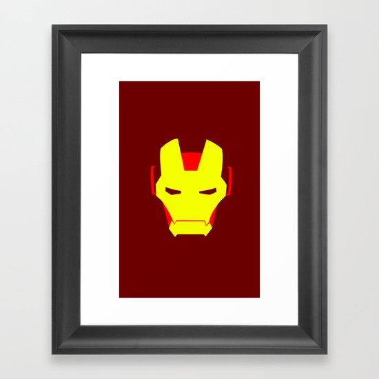 Minimalist Iron Man Framed Art Print