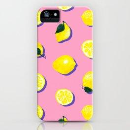 Pink Lemon ~ 80's Pattern iPhone Case