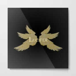 Lucifer with Wings Light Metal Print