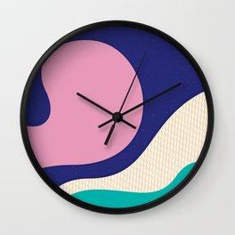 Abstract Waves Wall Clock