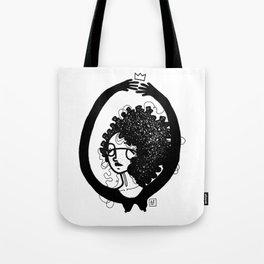 femme à lunettes. Tote Bag