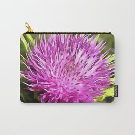 Purple Thistle Wildflower Carry-All Pouch
