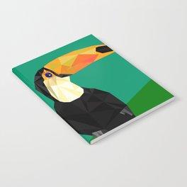 Toucan Bird artwork Geometric Tropical birds Brazil Notebook