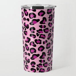 Leopard-Pink+Black+Purple Travel Mug