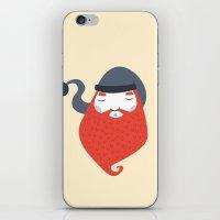 beard iPhone & iPod Skins featuring Beard by Volkan Dalyan