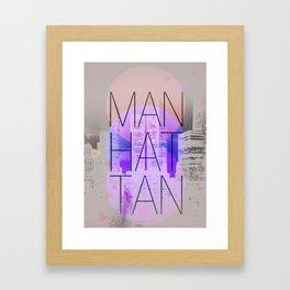 Beautiful Manhattan Framed Art Print