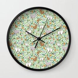 Cute Llamas Wall Clock