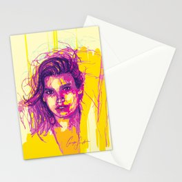 Digital Drawing #21 - Gia Marie Carangi Stationery Cards
