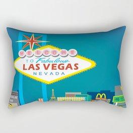 Las Vegas, Nevada - Skyline Illustration by Loose Petals Rectangular Pillow