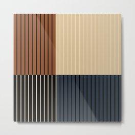 Color Block Line Abstract I Metal Print