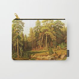 """A copy of Shishkin's work, """"Pine Forest"""" Carry-All Pouch"""
