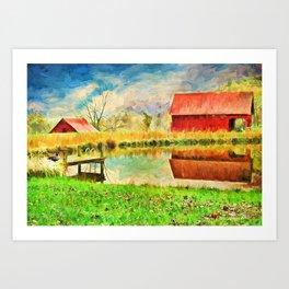 Farm Reflections Art Print