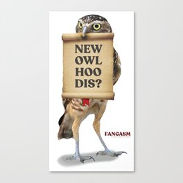 New Owl Hoo Dis Canvas Print