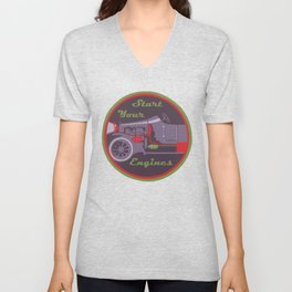 Start your engines Unisex V-Neck