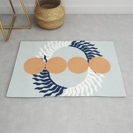 Lovely crown with pink circles Rug