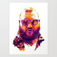 action bronson Art Prints featuring ACTION BRONSON : NEXTGEN RAPPERS V2 by mergedvisible