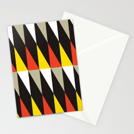 Geometric Pattern #187 (harlequin red yellow) Stationery Cards