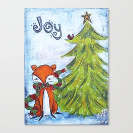 Joyful Fox Canvas Print