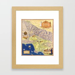The old Spanish and Mexican ranchos of Los Angeles County Framed Art Print
