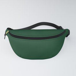 Dark green pure color clear simple Fanny Pack