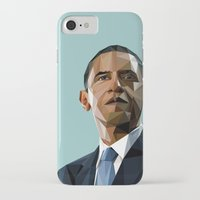 obama iPhone & iPod Cases featuring Geometric Obama by CheekyMonkeyArt