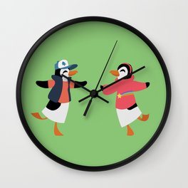 Mystery Twins Penguins Wall Clock