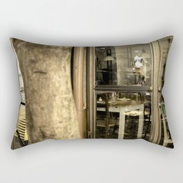 Art is everywhere ! Firenze Italy restaurant Rectangular Pillow