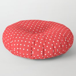 Domino Dots red and white Floor Pillow