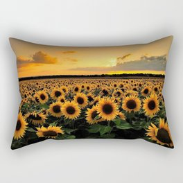 Sunflower field Rectangular Pillow