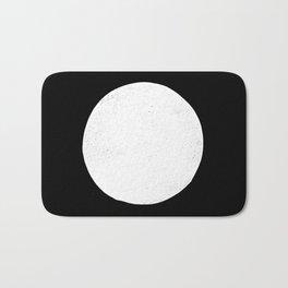 Linocut black and white dot minimalist polka dot Bath Mat