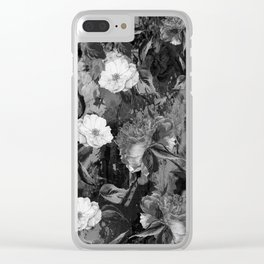Watercolors Floral Pattern Clear iPhone Case