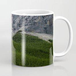 Mountains and Pine Trees Photography | Lake Minnewanka | Landscape | Alberta Coffee Mug