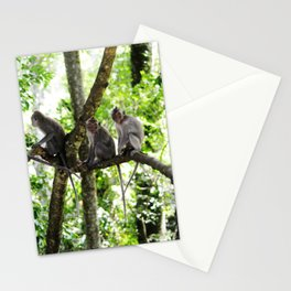 Monkey Family Stationery Cards