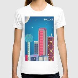 Dallas, Texas - Skyline Illustration by Loose Petals T-shirt