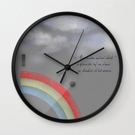 A quarter rainbow Wall Clock